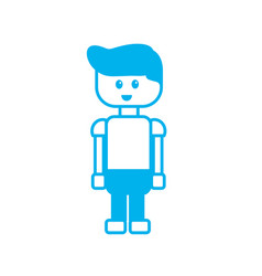 Silhouette man character to video game technology vector