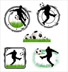 soccer grunge stamps vector image vector image