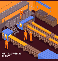 Steel industry isometric vector