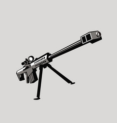 Stylized drawing a sniper rifle vector