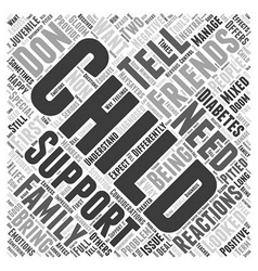 Support from Friends and Family Word Cloud Concept vector image