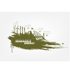 Texture grunge renewable energy vector