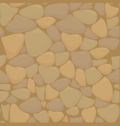 Texture of stones in brown colors vector