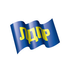 The flag of the russian liberal democratic party vector