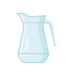 transparent glass jug for water or juice vessel vector image