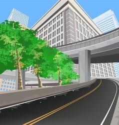 Transportation scene vector