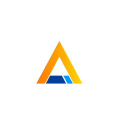 Triangle business logo vector