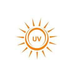 Ultra violet ray protection emblem logo design vector