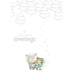 Vintage Christmas and New Year greeting card with vector