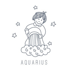 Water-bearer aquarius vector
