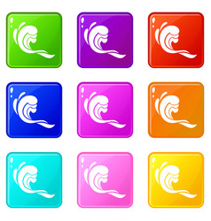 Water wave set 9 vector