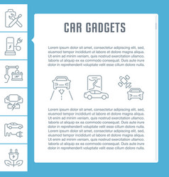 Website banner and landing page car gadgets vector