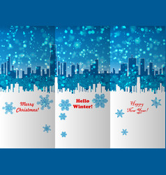 winter new year and christmas leaflet design vector image