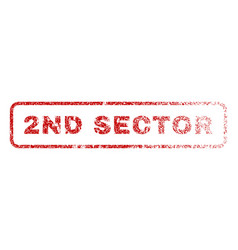 2nd sector rubber stamp vector image vector image