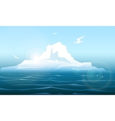 Arctica seascape with iceberg vector image