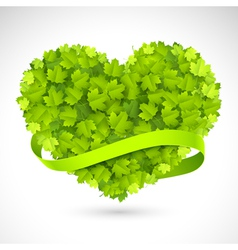 Big green heart vector image vector image