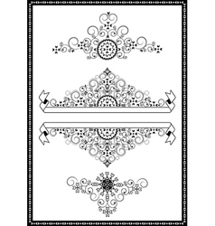 Collection ornaments and banners vector image vector image