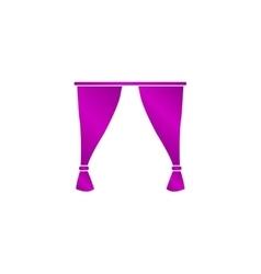 Curtain icon vector