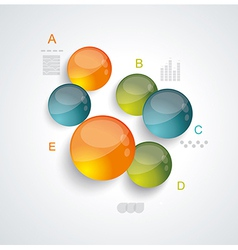 Diagram and Timeline Infographic vector image vector image