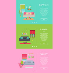 furniture and interior pages vector image vector image
