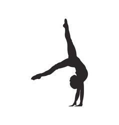Gymnastics silhouette vector image