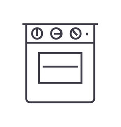 oven line icon sign on vector image
