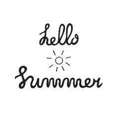 Summer quote Brush pen handwritten vector image vector image