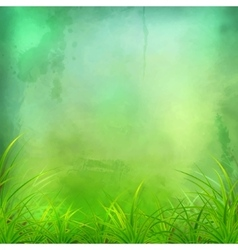 Watercolor Green Grass Background vector image vector image