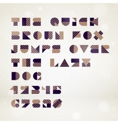 Abstract geometric font vector image vector image