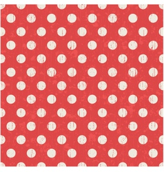 seamless polka dots texture red pattern vector image vector image