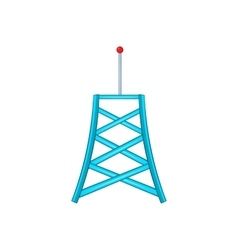 Wireless connection tower icon cartoon style vector