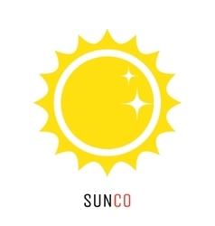 Yellow sun icon logo design concept vector image