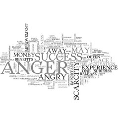 anger and health text word cloud concept vector image