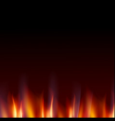 burn flame fire dark background vector image