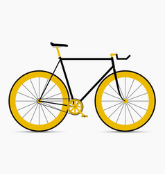 hipster single speed bike in black and gold colors vector image vector image