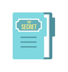 notepad icon flat style vector image