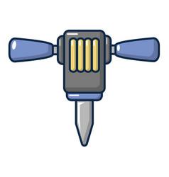 Pneumatic hammer icon cartoon style vector