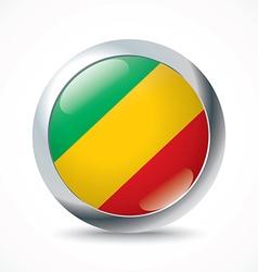 Republic of Congo flag button vector image