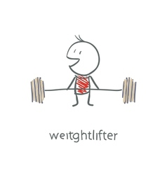 Weightlifter vector image vector image
