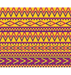 yellow pixeled brazil pattern vector image vector image