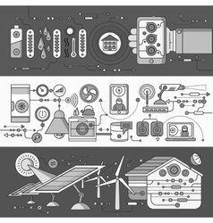 Concept of Smart Home and Control Device vector image vector image