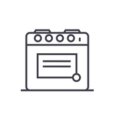 oven line icon sign vector image vector image