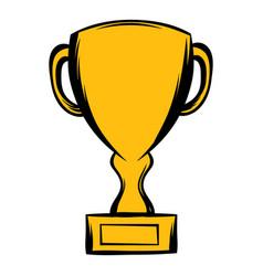 prize cup icon cartoon vector image