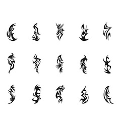 Tribal tattoo symbol design vector image