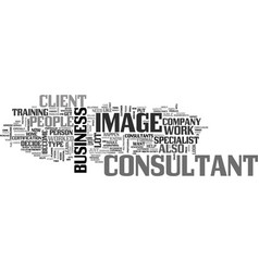 What type of image consultant do you want to be vector
