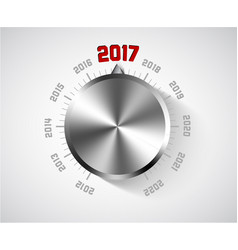 2017 new year card for music lover vector image