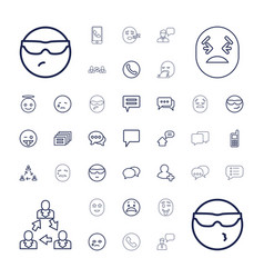 37 chat icons vector