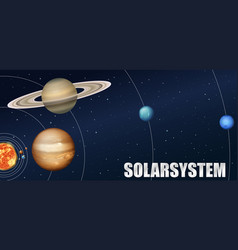 a solar system astronomy vector image