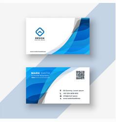 Abstract blue modern business card design vector
