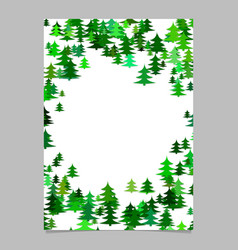 Abstract random seasonal pine tree design vector
